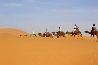 4 Days tour from Marrakech to Fes with a night camel trekking in the desert