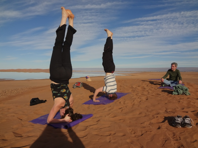 Yoga in the Sahara Desert
